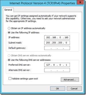 Internet Protocol Version 4 - Properties IP Address