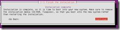 Ubuntu installed reboot