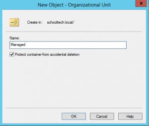 Active Directory, create OU