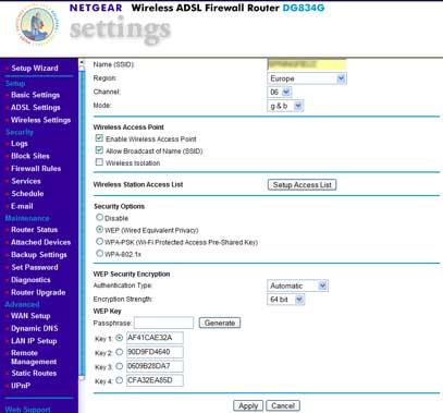 Netgear Wireless Access Point Config