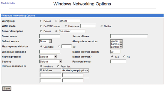 Windows Networking Configuration